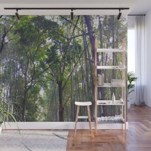 Society6 Bamboo Forrest Wall Mural by happydidi