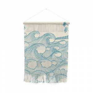 Society6 Waves Wall Hanging by concretejungle