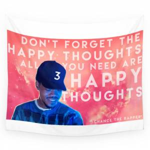 Society6 Happy Thoughts Wall Tapestry by jwulfy