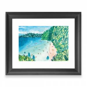 Society6 Paradise Framed Art Print by helobirdie