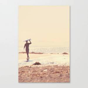 Society6 Surfer Photograph. A Visceral Need Canvas Print by myansoffia
