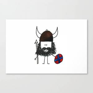 Society6 Norsk Viking Canvas Print by chocolatemooseimages