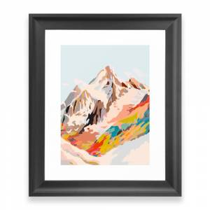Society6 Glass Mountains Framed Art Print by artandghosts