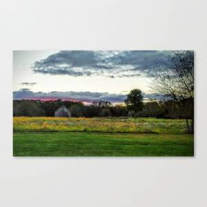 Society6 Colorful Barn Canvas Print by pegcornils
