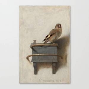 Society6 The Goldfinch by Carel Fabritius Canvas Print by artmasters
