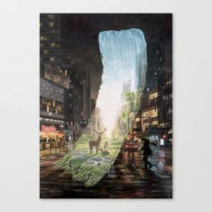 Society6 Recover - Brushstrokes in Time Canvas Wall Art by david_art