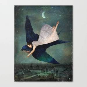 Society6 Fly Me To Paris Canvas Print by christianschloe