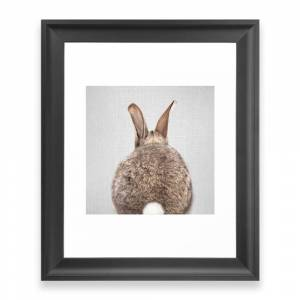 Society6 Rabbit Tail - Colorful Framed Art Print by galdesign