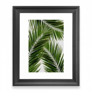Society6 Palm Leaf III Framed Art Print by paperpixelprints