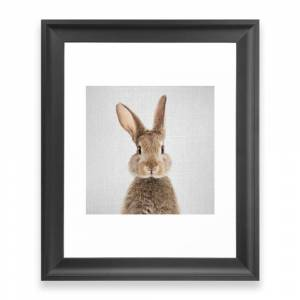 Society6 Rabbit - Colorful Framed Art Print by galdesign