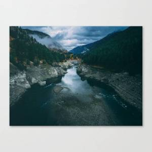 Society6 Snake River Canvas Print by contouraerials