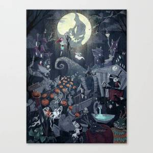Society6 This is Halloween Canvas Print by annemeier