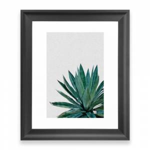 Society6 Agave Cactus Framed Art Print by paperpixelprints