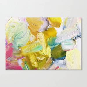 Society6 Lots of Feelings Abstract Painting Canvas Print by mari_orr