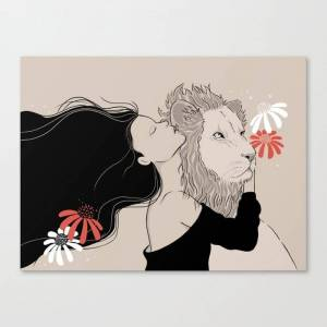 Society6 Secrets to the King Canvas Print by linache