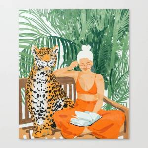 Society6 Jungle Vacay Painting Illustration Canvas Print by 83oranges