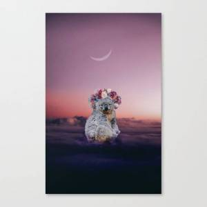 Society6 Koala In The Clouds Canvas Print by unrealworld