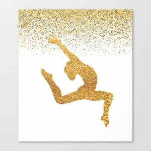 Society6 Gold Gymnast Canvas Print by ampedboutique