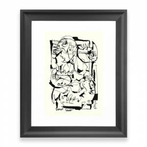 Society6 The Cycle Framed Art Print by 5wingerone