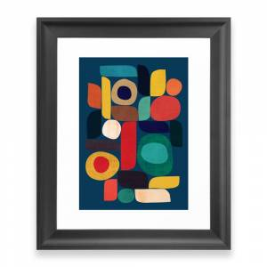 Society6 Miles And Miles Framed Art Print by budikwan