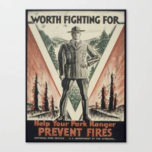 Society6 Vintage Poster - Worth Fighting For Canvas Print by mosfunky