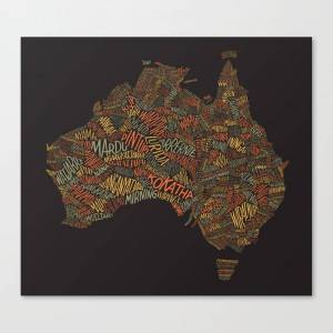 Society6 Indigenous Australia Canvas Print by davethedesigner
