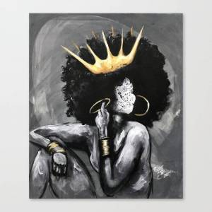 Society6 Naturally Queen VI Canvas Print by dacre8iveone