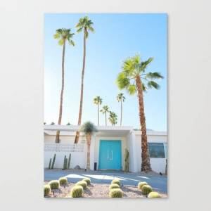 Society6 PS, Blue Door 2 Canvas Print by scarolaphotography