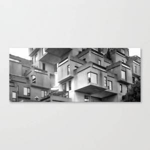 Society6 Habitat 67 01- Mid Century Architecture Canvas Print by spaced