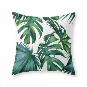 Society6 Classic Palm Leaves Tropical Jungle Green Throw Pillow by followmeinstead