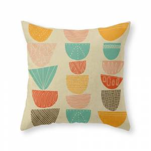 Society6 Stacks Throw Pillow by myteemo