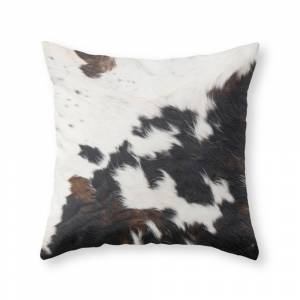 Society6 Brown Cowhide Throw Pillow by cadinera