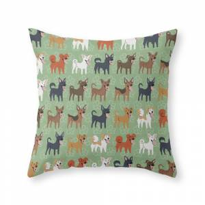Society6 Formosan Mountain Dogs Throw Pillow by lilichin