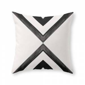 Society6 Converging Triangles Black and White Moroccan Tile Pattern Throw Pillow by danahunting
