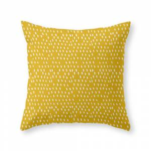 Society6 Yellow Modernist Throw Pillow by madelinelormbrek