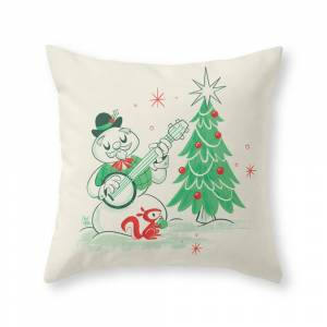 Society6 Vintage Snowman Throw Pillow by therewillbecute