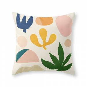 Society6 Abstraction_Floral_001 Throw Pillow by forgetme