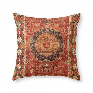 Society6 Seley 16th Century Antique Persian Carpet Print Throw Pillow by vickybragomitchell