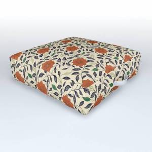Society6 Philip's Flowers Outdoor Floor Cushion by themaxwells