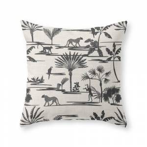 Society6 Jungle Thrive Black Throw Pillow by hollizollinger