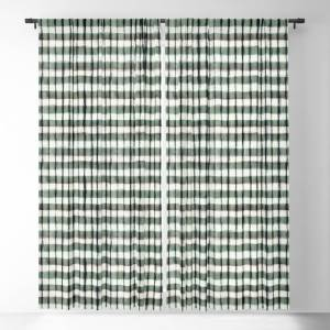 Society6 Geo Brush Serenity Large Blackout Window Curtains by adoorenbosch