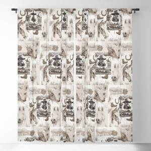 Society6 Country Western Blackout Window Curtains by canisart