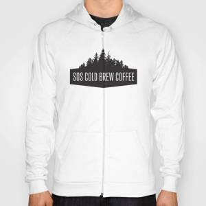 Society6 SOS Cold Brew Vintage B/W Hoody by graceland