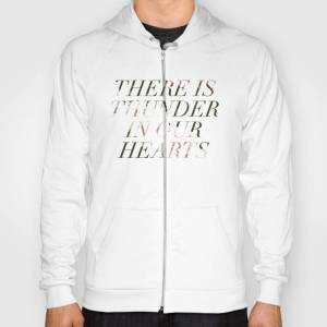 Society6 Thunder In Our Hearts Hoody by fieldguided