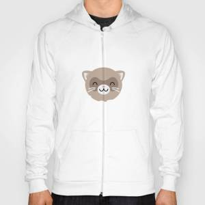 Society6 I Just Want To Play With My Ferret And Ignore All Of My Adult Problems Hoody by joseplucia