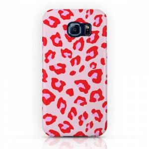 Society6 Leopard Print - Red And Pink Phone Case by silverpegasus