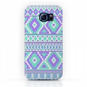 Society6 Tribal Art Creation Purple and Mint Phone Case by tjc555