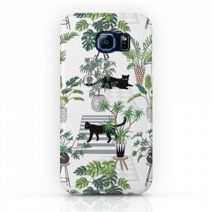 Society6 Cats In The Interior Pattern Phone Case by anyuka