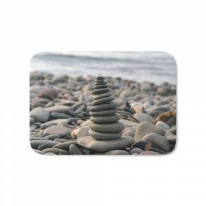 Society6 Stacked Bath Mat by positivenature