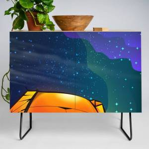 Society6 Camping Under The Stars Credenza by nicholasgreen